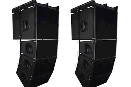 德立信Q1双10寸线阵音响大中小型舞台演出广场移动专业音箱设备