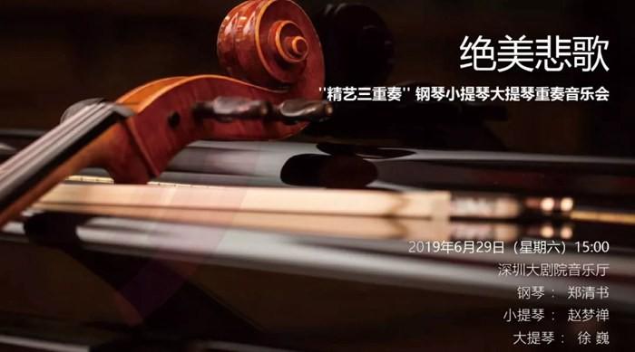 【艺术大观】绝美悲歌 ——''精艺三重奏'' 钢琴小提琴大提琴重奏音乐会
